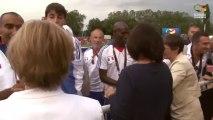 Interview de Valérie Fourneyron (Ministre des sports) et Gérard Masson (Président de la FFH)