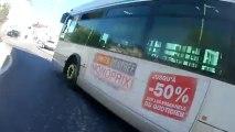 Un bus de Nancy grille la priorité à un cycliste