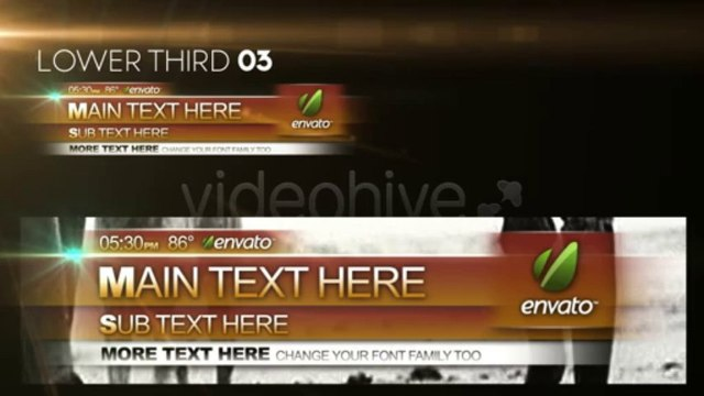 Thirds 01 - Lower Third Pack - After Effects Template