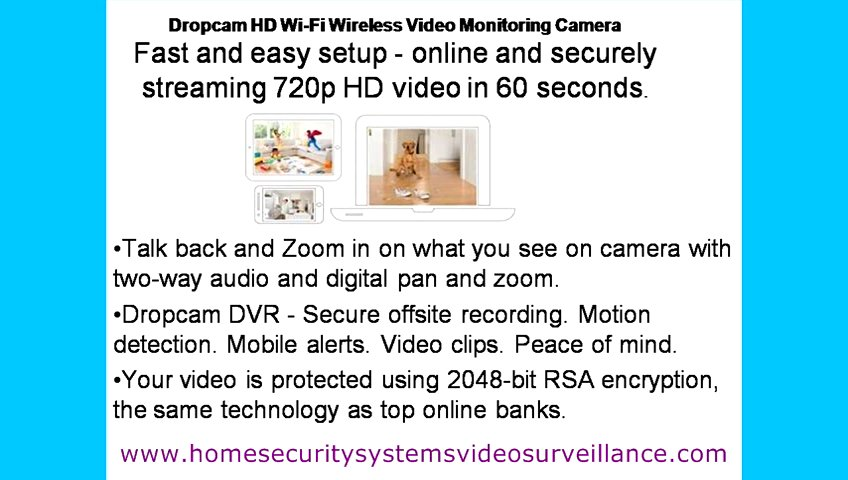 Home Security Systems Video Surveillance-Dropcam HD Wi-Fi Wireless Video Monitoring Camera