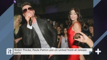 Robin Thicke, Paula Patton Put On United Front At Release Party