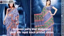 Blue sarees Online, Blue Saris Shop, Buy Blue Color Indian Saree, Blue Saris Store