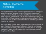 Natural Toothache Remedies
