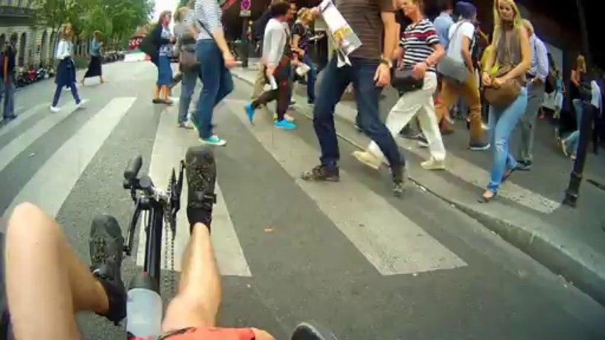 Traversée de Paris en Trike (vélo couché)