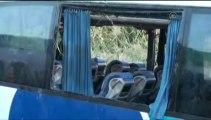 Otobüs şarampole devrildi 46 yaralı