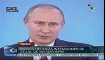 Pdte. Vladimir Putin rechaza intensiones de agresiones contra Siria
