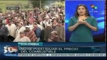 Colombia: campesinos de tres departamentos levantan paro