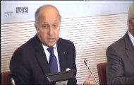 TRAVAUX ASSEMBLEE 14EME LEGISLATURE : Audition de Laurent Fabius, Ministre des Affaires étrangères