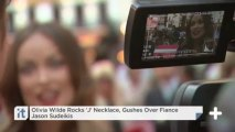 Olivia Wilde Rocks 'J' Necklace, Gushes Over Fiance Jason Sudeikis