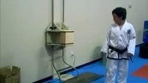 Board breaking - 6 board break side kick - ITF Taekwondo Sidekick Power Breaking