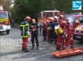 Simulation de catastrophe naturelle chez les pompiers