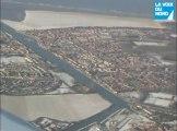 Le Nord - Pas-de-Calais sous la neige...  vu du ciel!