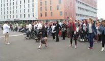 Flash mob valides/handicapés Grand Stade Pierre-Mauroy