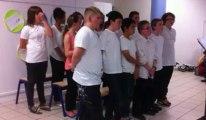 Beuvrages : des élèves du collège Paul-Eluard chantent le jour de la fête de la Musique
