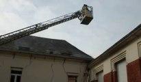 Fourmies: les sapeurs-pompiers combattent un feu de combles rue Pasteur