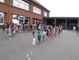 Seclin : les enfants des centres aérés dansent pour accueillir les élus