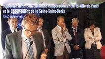 Signature de la convention de coopération entre la Ville de Paris et le Département de la Seine-Saint-Denis