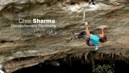 "Chris Sharma sends ""Dessèchement Planétaire"" [5.14b] FA"