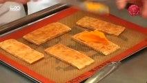Recette de Filet de canette au caramel, tarte fine de carottes