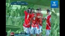 هدف لاعب منتخب مصر محمد صلاح بتمريرة مميزة من محمد ابو تريكه على منتخب غينيا