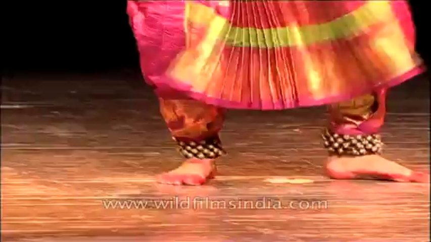 Indian classical dancer performing Bharatnatyam