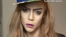 Tyra Banks transforms herself into Cara Delevingne
