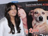 Raveena Tandon Launches PETA Dog Adoption Campaign
