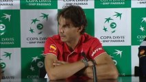 Rafa Nadal at the press conf. after Davis Cup play-off in Madrid