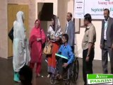 Mrs Azra Majeed & Mr Amir Majeed Distributing Gift to Special Children who performend at jeeveypakistan show