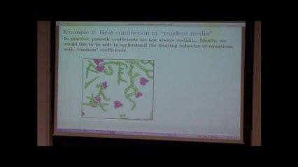 Stochastic homogenization_Scott Armstrong