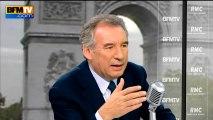 François Bayrou, invité de Bourdin Direct sur BFMTV - 160913