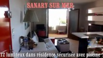 IMMOBILIER SANARY VENTE APPARTEMENT T2 dans residence securisee avec piscine en dernier etage