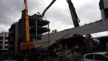 Rue Fred Scamaroni, la destruction des anciens locaux du RSI a commencé