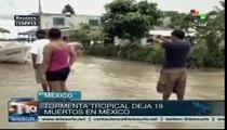 Fenómenos climáticos matan a 19 en México y desplaza a miles