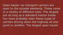 Auto Carrier Types
