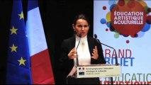 Conférence de presse d'Aurélie Filippetti sur l'éducation artistique et culturelle /  volet numérique