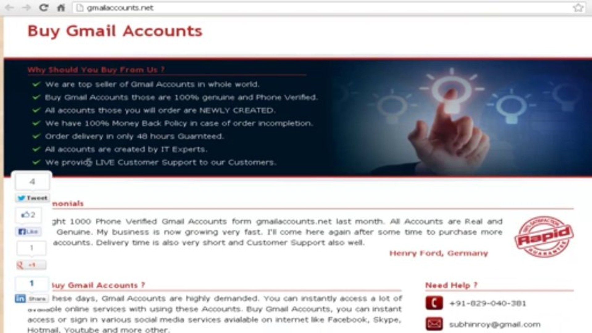 Buy Gmail Accounts & PVA gmail accounts