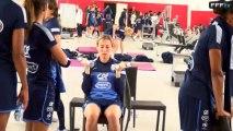 Mondial 2015 : Carnet de bord des Bleues : Séance de musculation du 18 septembre 2013