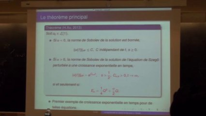 Transfert d'énergie vers les hautes fréquences pour les équations hamiltoniennes