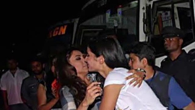 Katrina Kaif & Rani Mukherjee Kiss Leaked