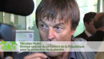 Conférence environnementale 2013 : Itw de Nicolas Hulot, envoyé spécial du président de la République pour la protection de la planète