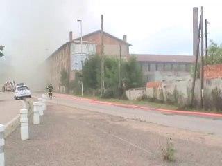 les tuileries de Mably  en feu - FLASH Spécial