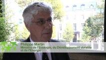 Conférence environnementale 2013 : Itw de Philippe Martin lors de la conférence environnementale 2013