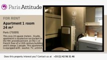 Studio Apartment for rent - Grands Magasins - La Fayette, Paris - Ref. 8866