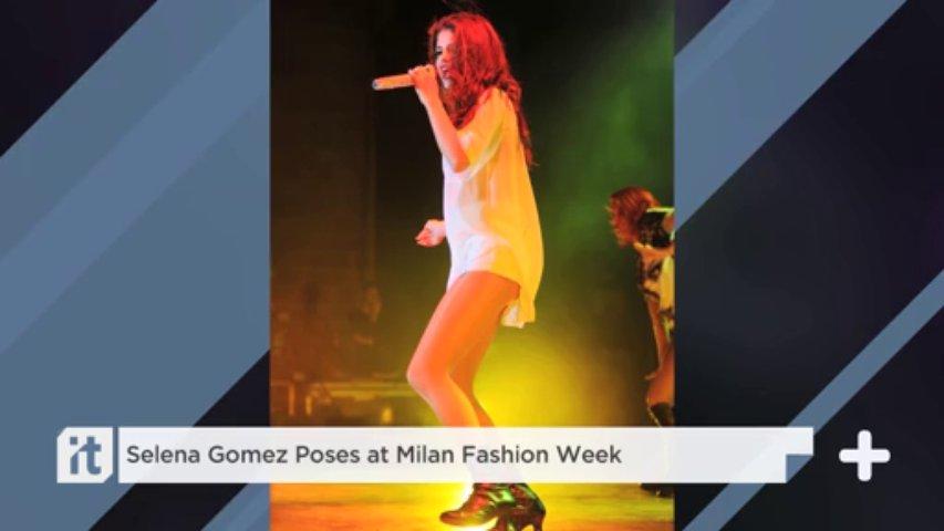Selena Gomez Poses At Milan Fashion Week. http://bit.ly/2BuUAGT