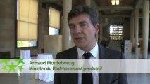 Conférence environnementale 2013 : Itw de Arnaud Montebourg, ministre du Redressement productif