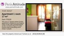 Studio Apartment for rent - Canal St Martin, Paris - Ref. 5122