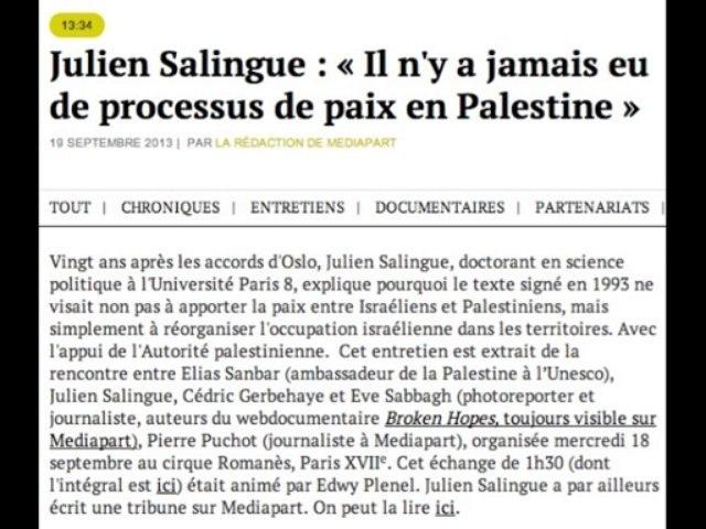 Julien Salingue : Oslo, 20 ans après.