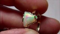 AAB10 - OPAL ORION - Bijou Bague Or 18 carats & Opale Welo Ethiopie Sur mesure