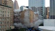 Houston Macys store in dawn implosion